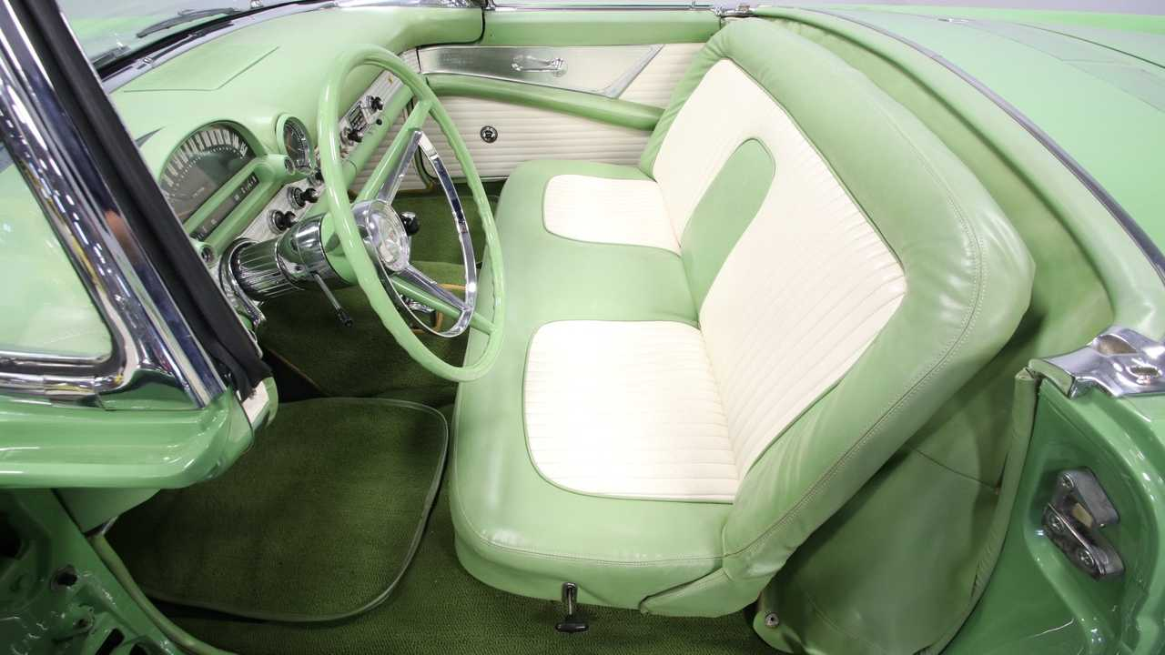 1956 Ford Thunderbird Looks Striking In Rare Sage Green Paint