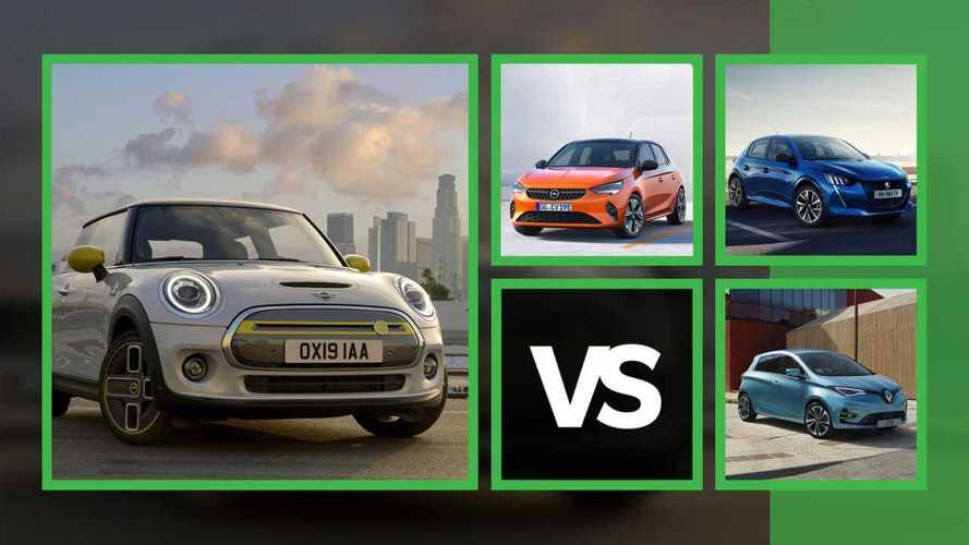 Elektro-Kleinwagen von Mini, Peugeot, Opel und Renault im Vergleich