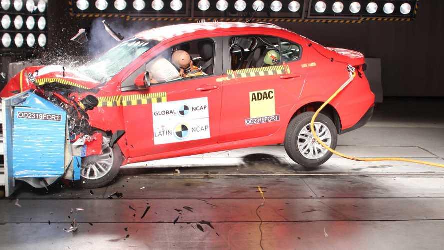 Fiat Argo e Cronos recebem três estrelas no Latin NCAP