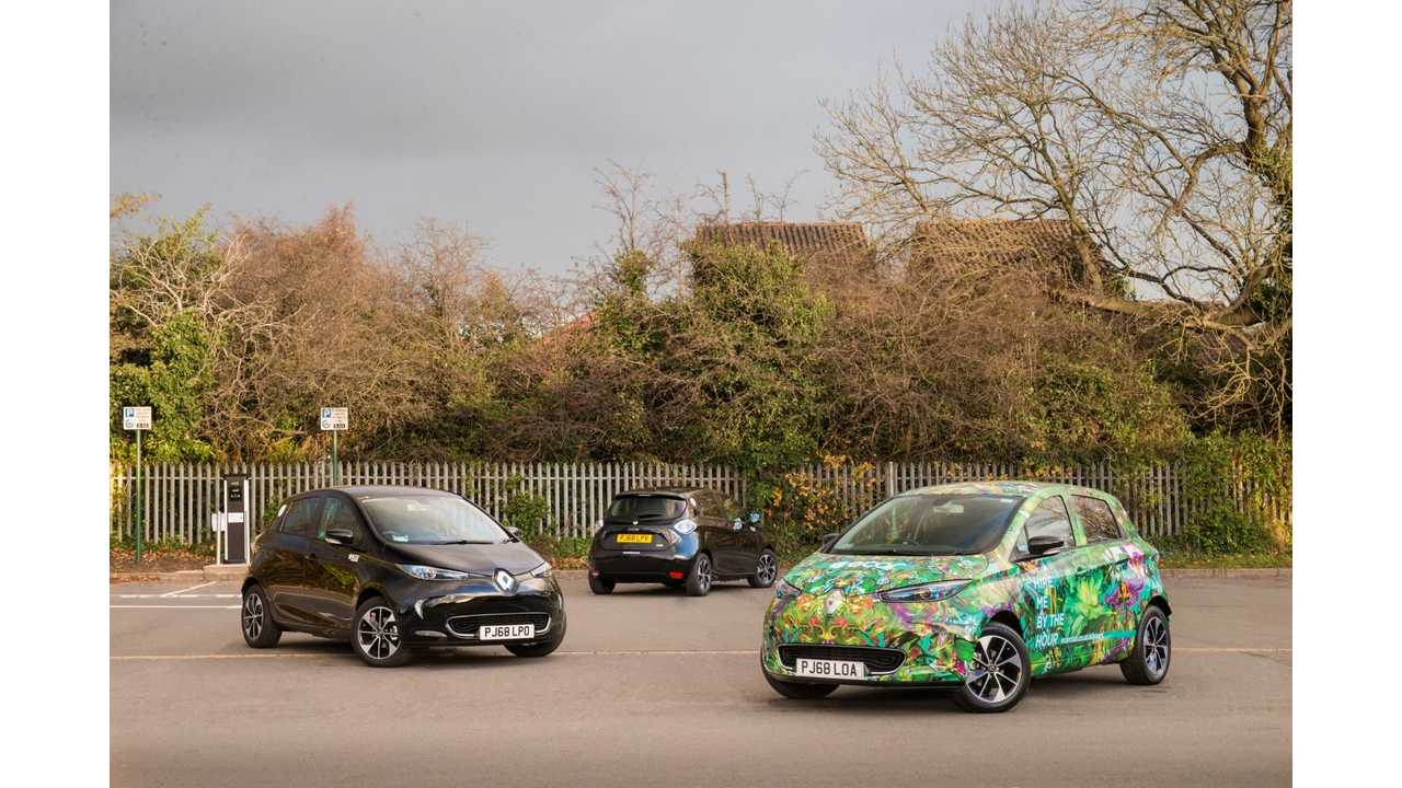Europcar Mobility Group orders 85 all-electric Renault ZOEs for its UK car sharing and Deliver & Collect operations