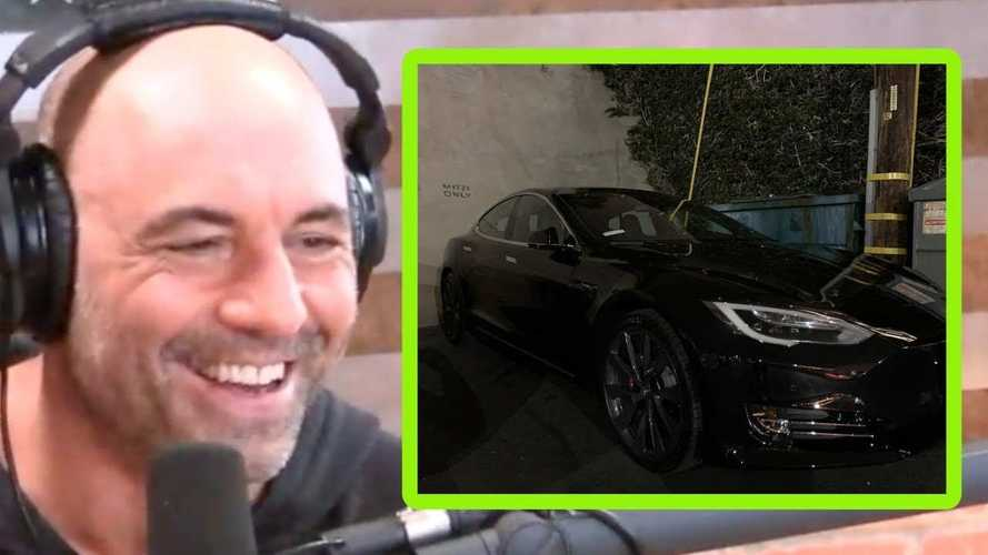 Joe Rogan Shocked By His New Tesla Model S: Video