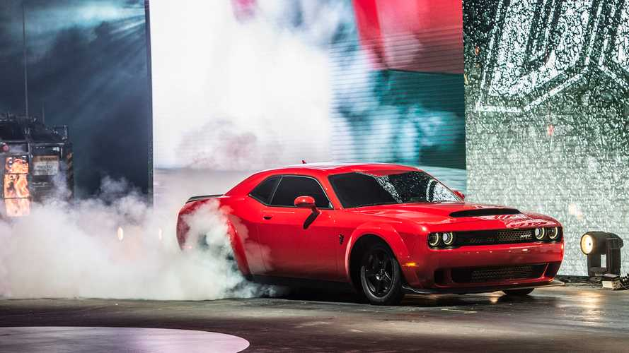 New York Governor Arrives In Dodge Demon To Deliver Electric Car Speech
