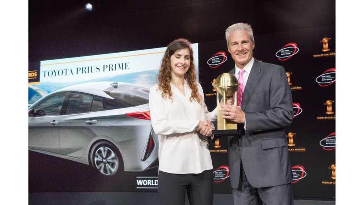 Toyota Prius Prime Wins 2017 World Green Car Award