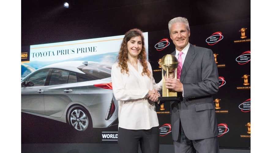 Toyota Prius Prime Wins 2017 World Green Car Award