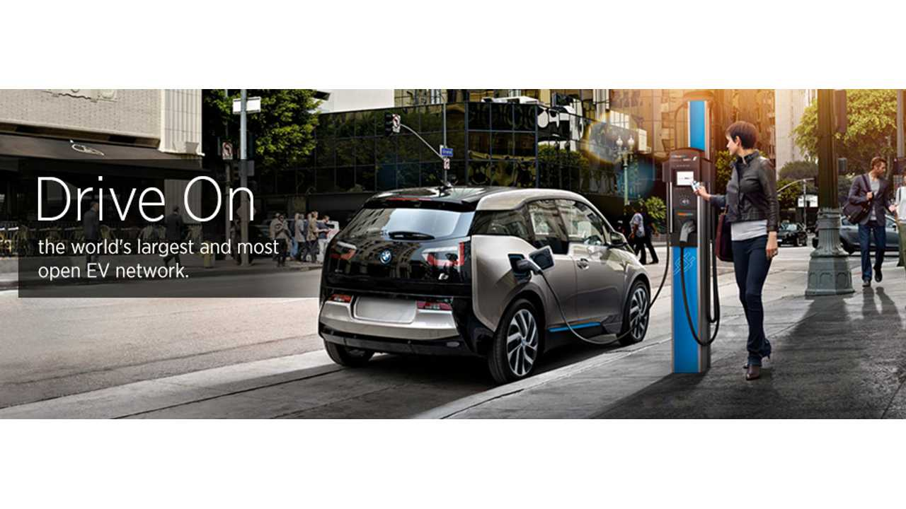 ChargePoint Station Interacting With A BMW i3