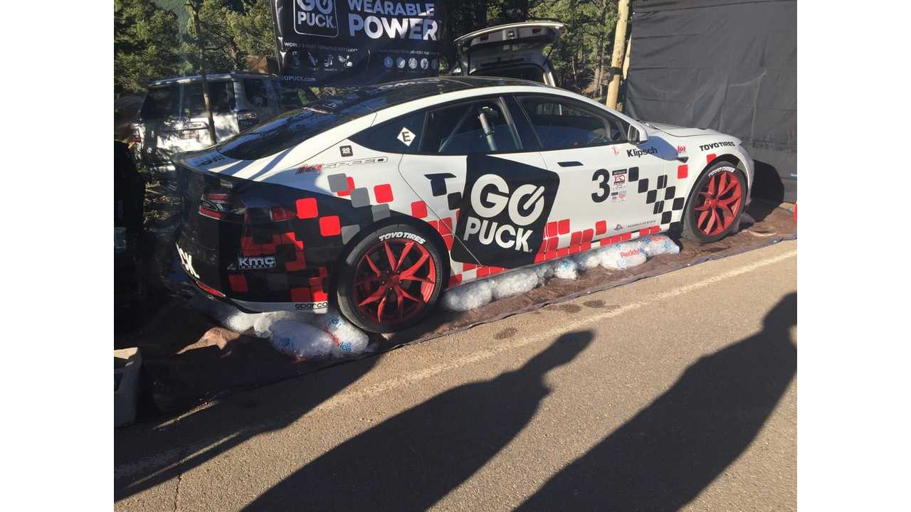 Near-Stock Tesla Model S P90D Sets New Pikes Peak Record