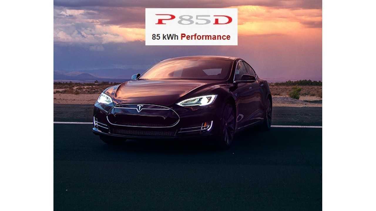 Tesla Model S P85D Gets Rated At 242 Miles* Of Range