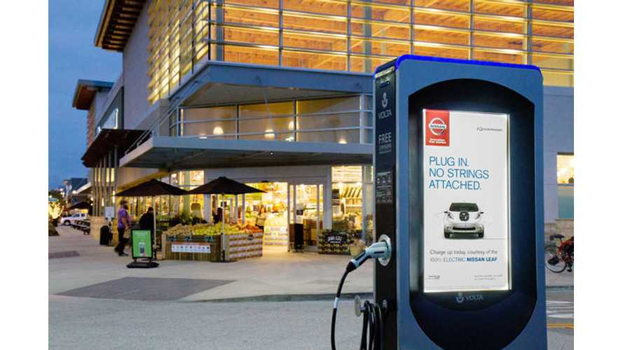 Volta And eMotorWerks Launch 1st Smart-Grid, Ad-Supported Public Charging Station