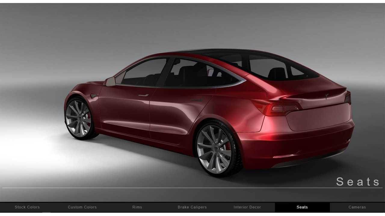 Tesla Model 3 In Red On Configurator