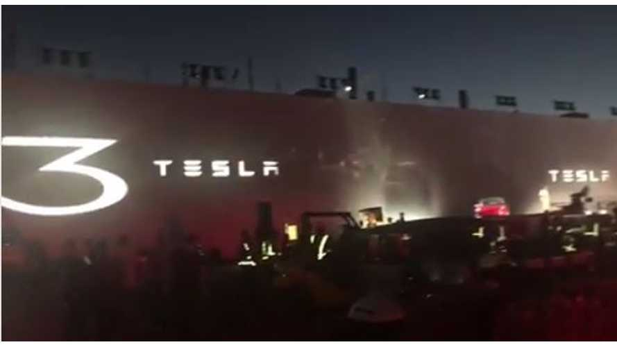 Elon Musk Provides Us With First Look At Tesla Model 3 Handover Event - Video