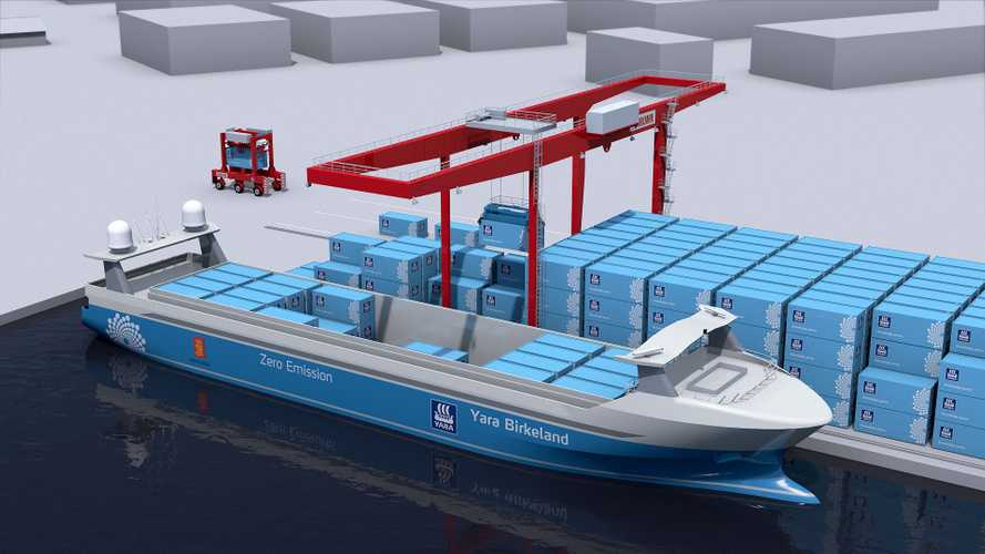 This Electric Container Ship Is Fully Autonomous, Even Unloads Itself
