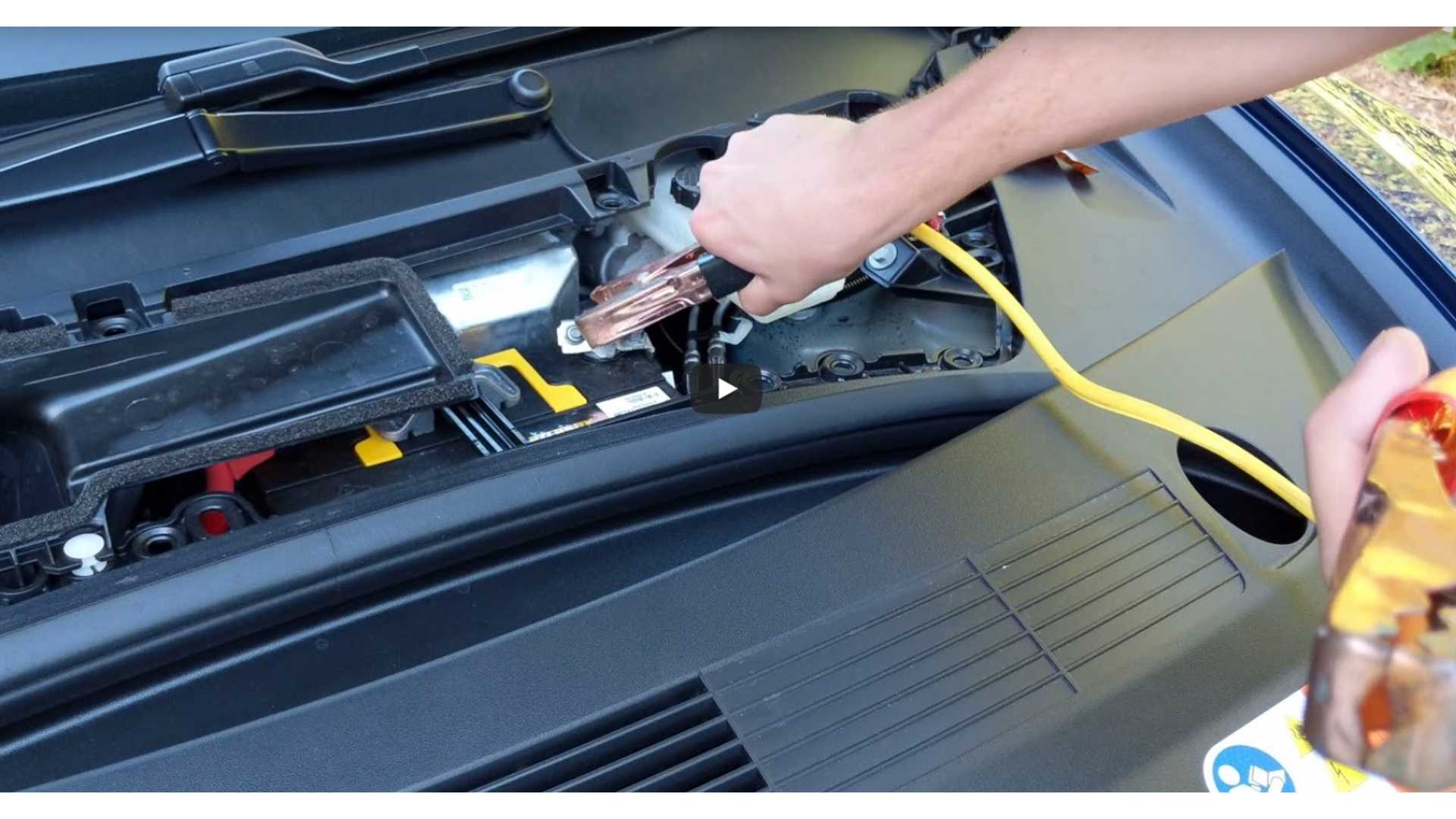 Here S How To Jump Start Another Car With Your Tesla Model 3