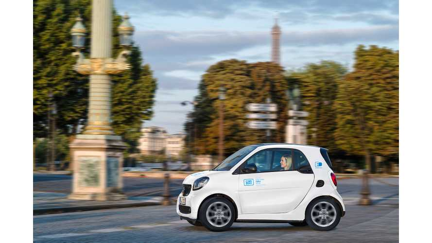 Car2go Announces Car Sharing In Paris: 400 Smart EQ Fortwo