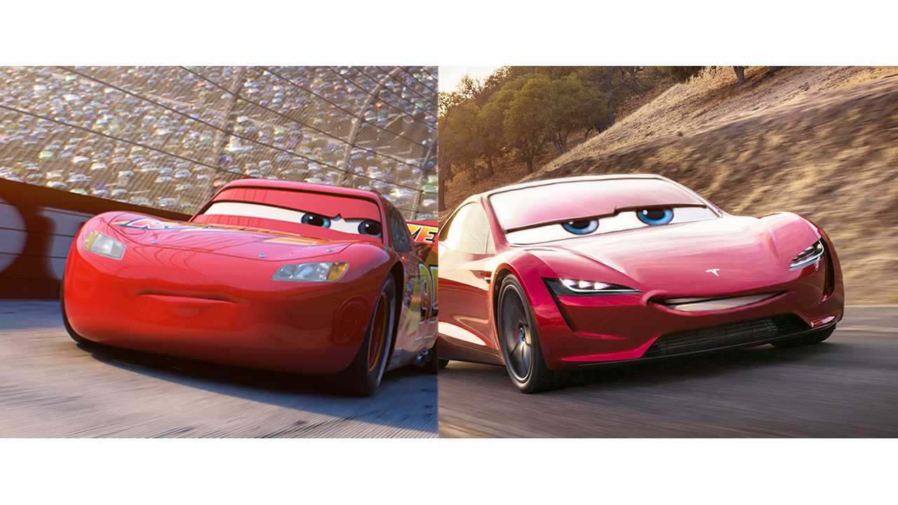 Tesla Makes Pit Stop: Screens Cars 3 To Thank Workers and Families