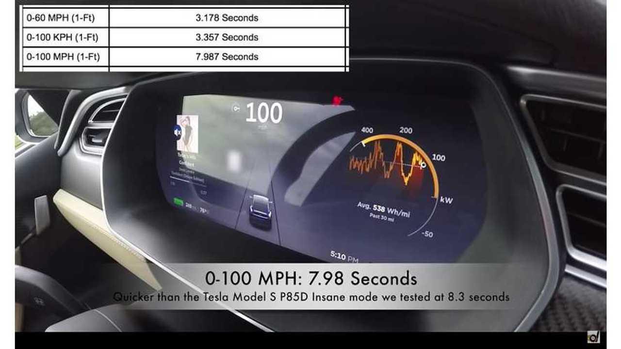 DragTimes: Tesla Model X P90D (Ludicrous Mode) 0-100 MPH in under 8 seconds
