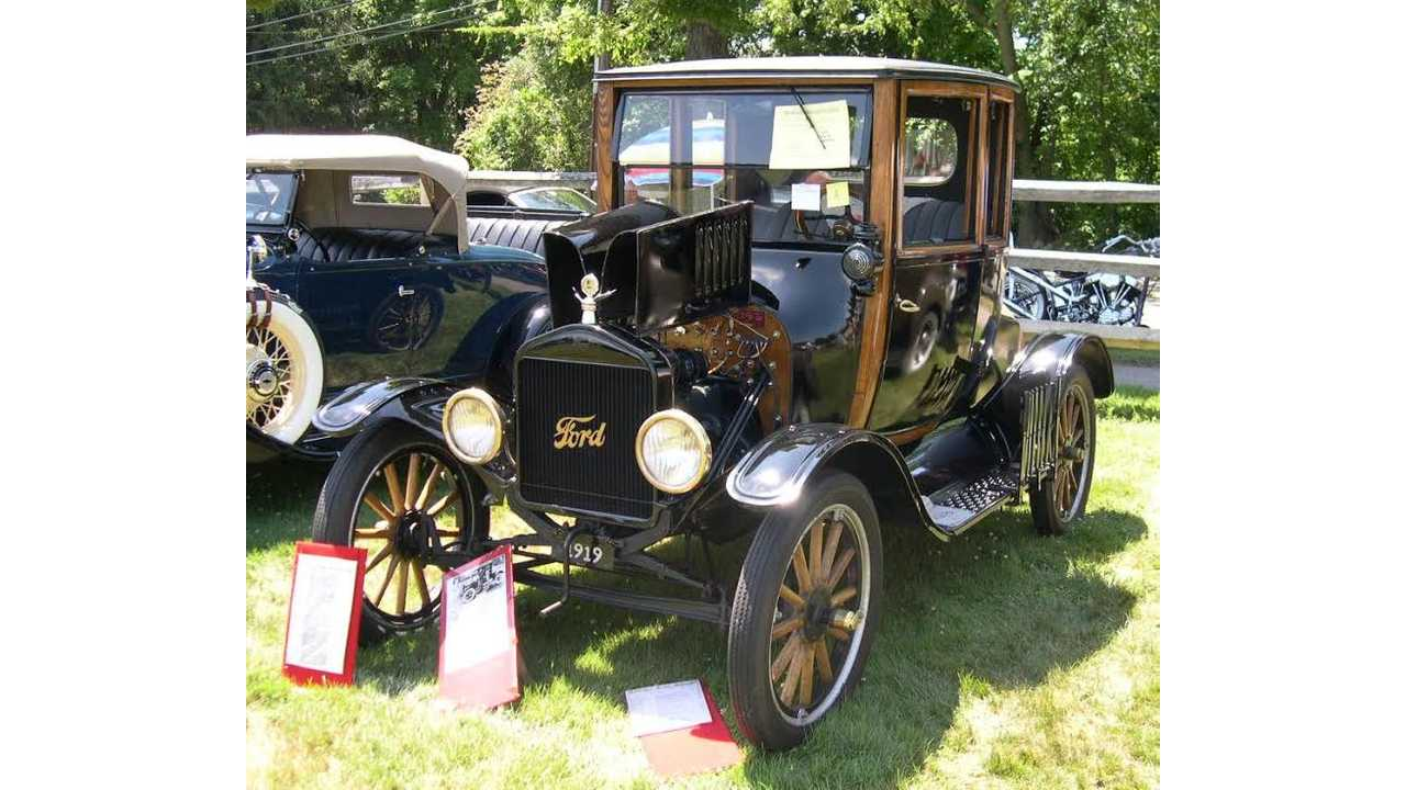 Caption: Ford Model T, the car that brought the automobile into the mainstream (1908-1927; 1919 shown. Attribution: Wikipedia).