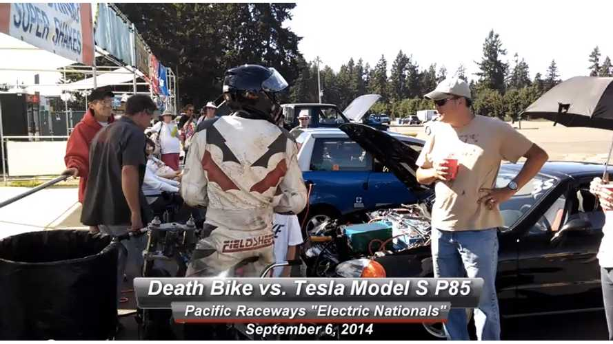 Death Bike vs Tesla Model S (Spoiler Alert #2) - Race Video