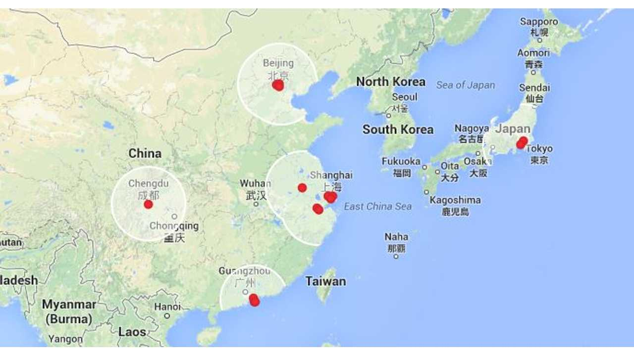 Supercharger Map Asia
