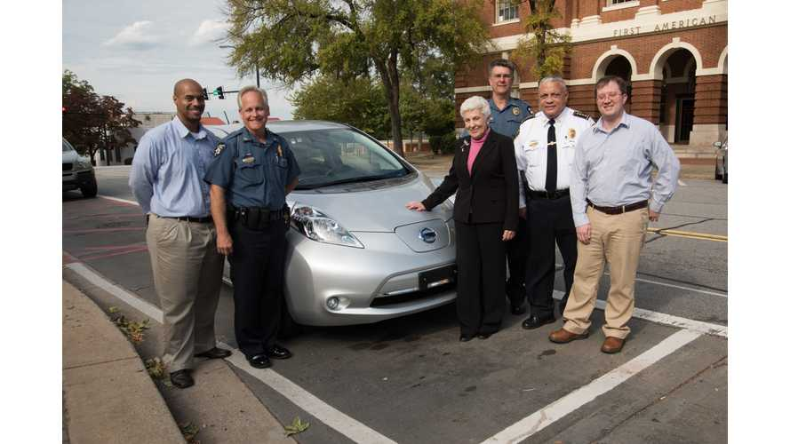 Police Department In Georgia Takes Delivery Of Nissan LEAF