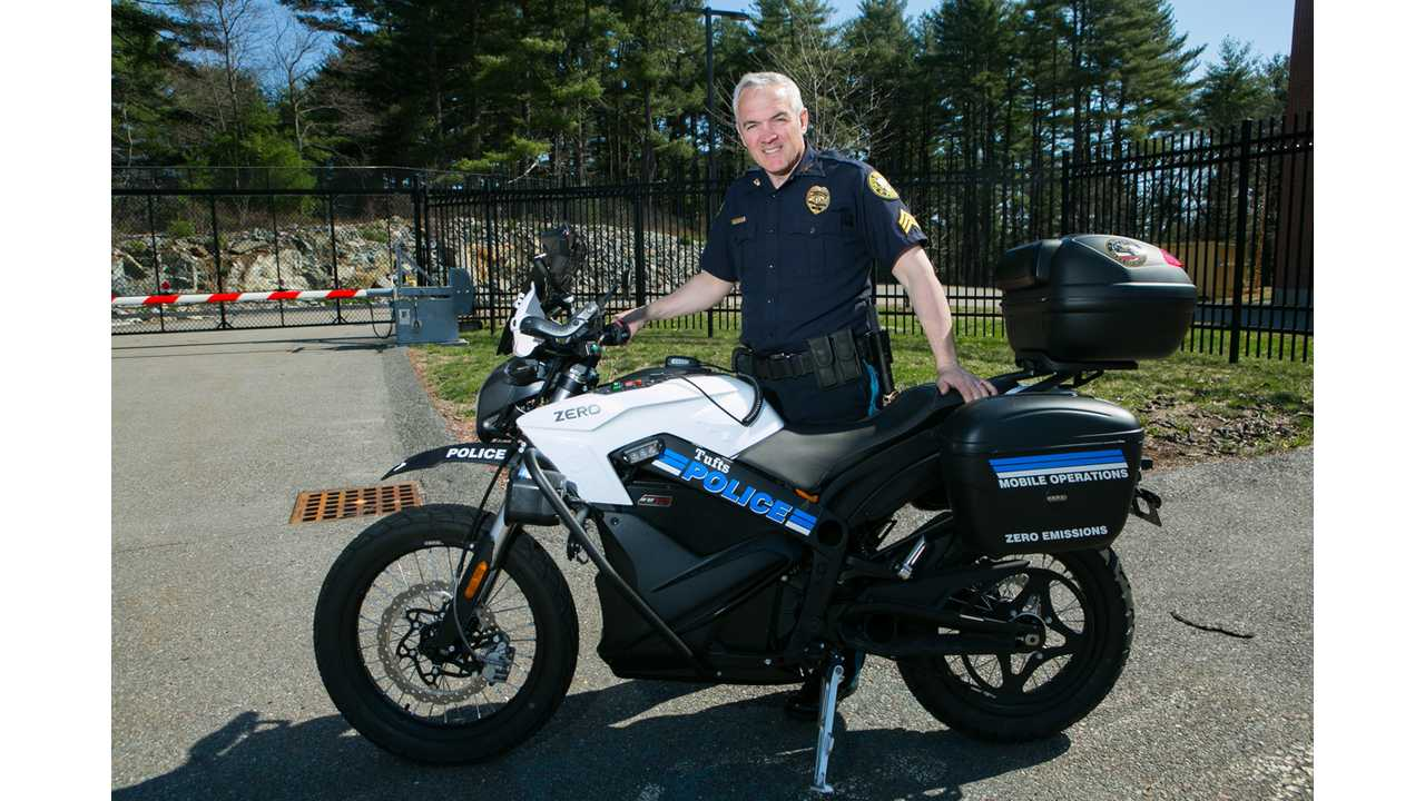 Tufts Goes Green With Zero Police Motorcycle