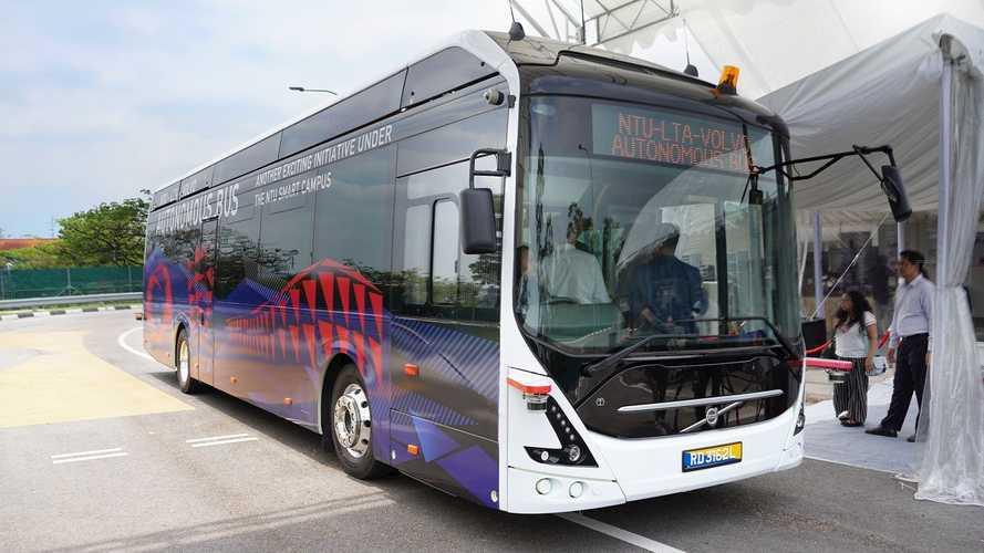 Volvo Unveils  World's First Full-Size Autonomous Electric Bus