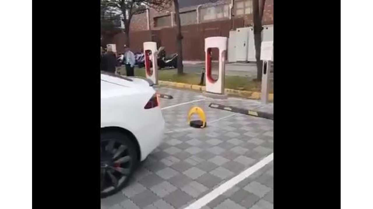 Check Out This Anti ICE-ing Tesla Supercharger Device In Taiwan: Video