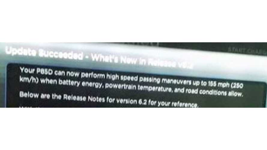 Tesla Model S Update 6.2 Allows For High-Speed Passing