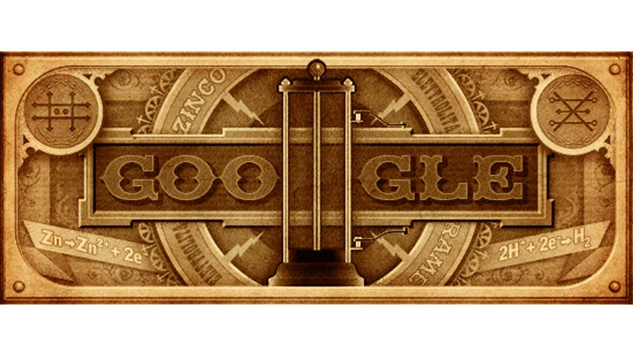 Alessandro Volta's 270th Birthday on Google