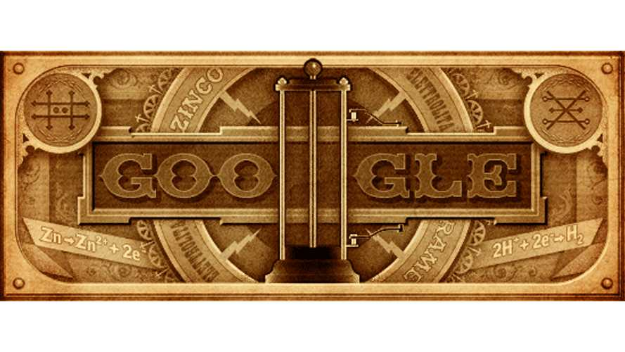 Alessandro Volta's 270th Birthday on Google