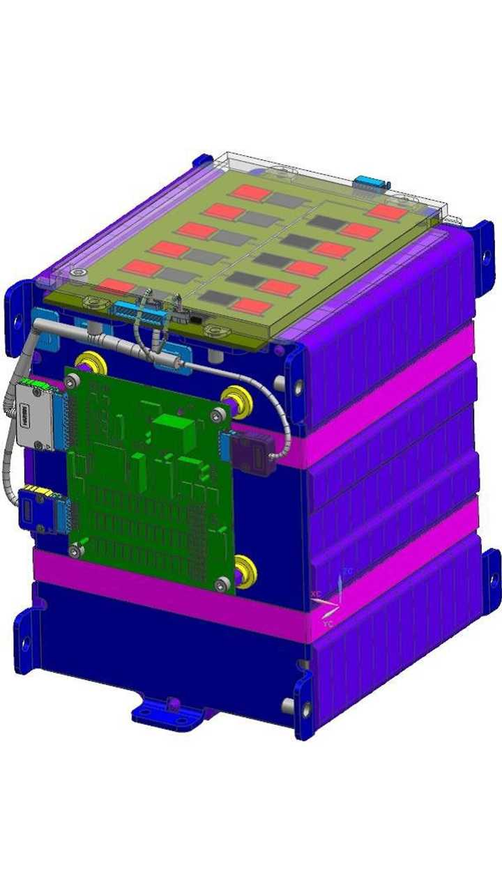 A 12 cell module design by Williams Advanced Engineering, incorporating Faradion's 3 Ah cells.