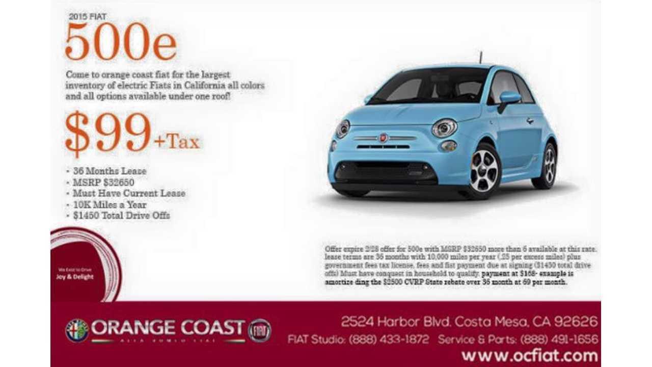Fiat 500e Lease Deal