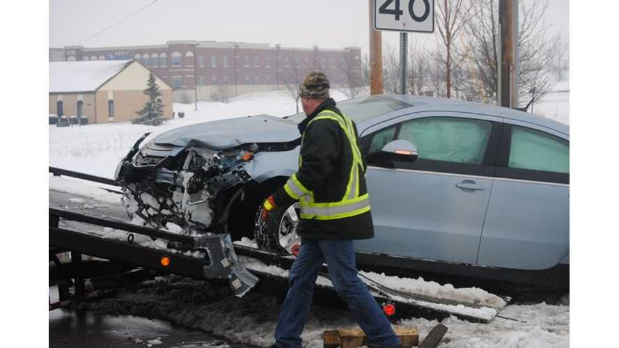 Two Car Crash Involving Red-Light Running Chevrolet Volt Leaves One Injured