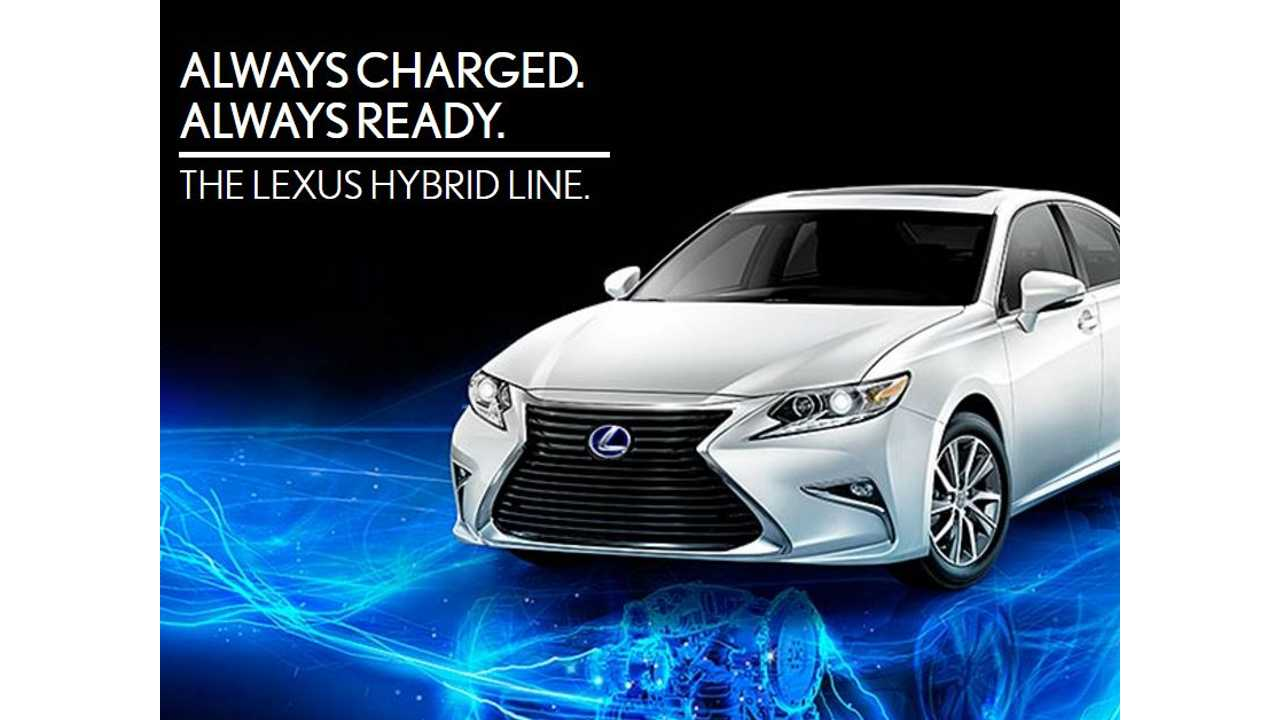 Note Lexus' New Slogan For Its Hybrids