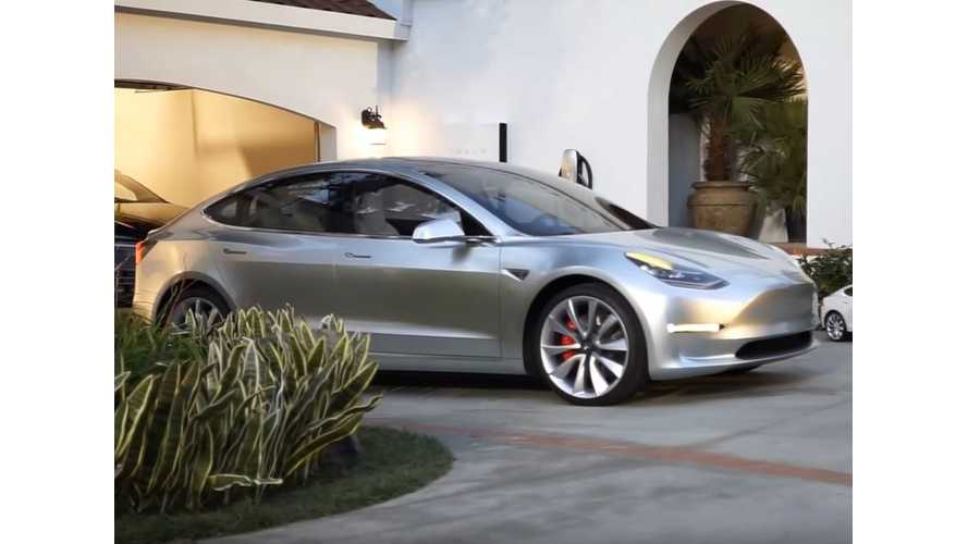 Tesla Model 3 Makes Rare Appearance In Behind-The-Scenes Video From Solar Event