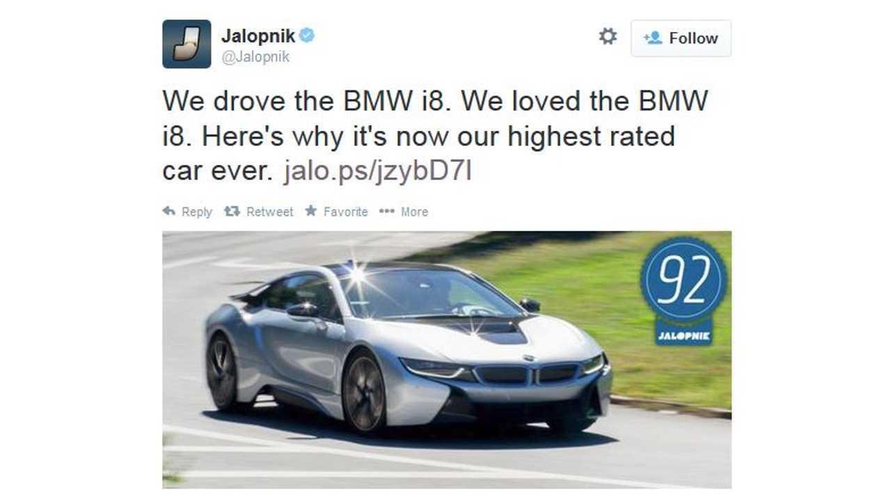 BMW i8 Becomes Jalopnik's Highest Rated Car Ever