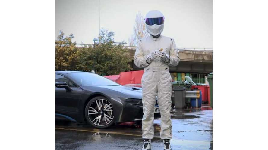 Top Gear's Stig Celebrates 15 Million Facebook Fans With Fireworks, BMW i8