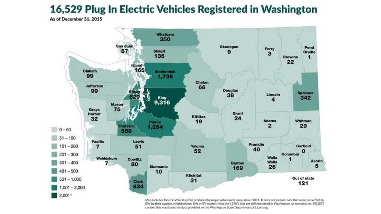 Washington Expands Electric Vehicle Incentive Program, Discounts Up To $3,100
