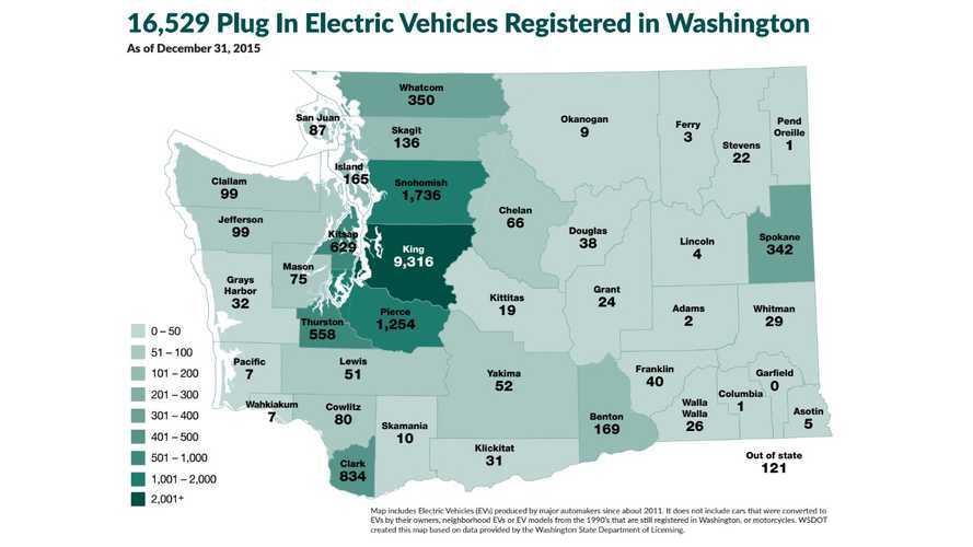 Washington Expands Electric Vehicle Incentive Program, Discounts Up To $3,100