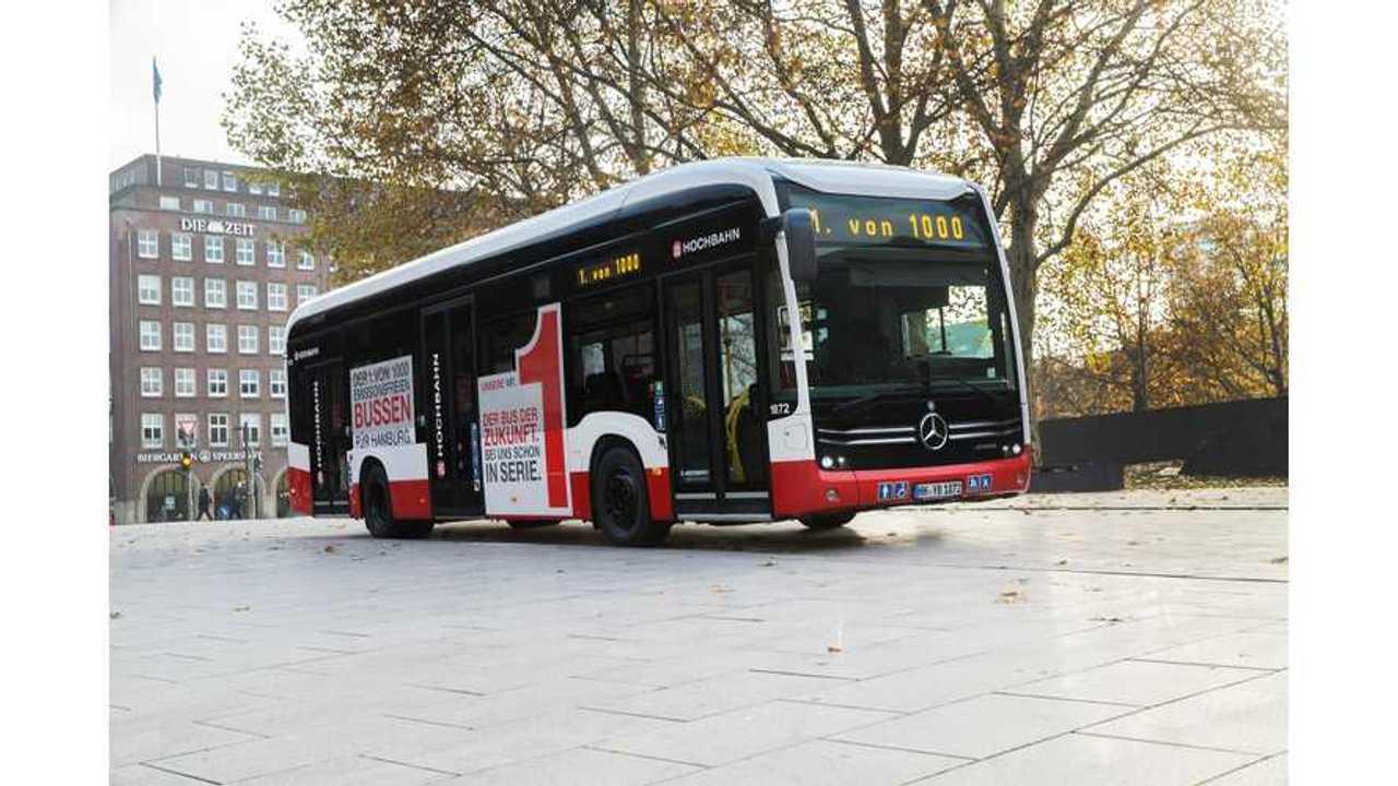 Mercedes-Benz Delivers 1st eCitaro Electric Bus To Hamburger Hochbahn