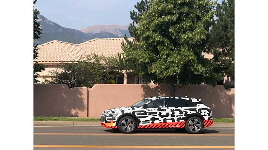 Audi E-Tron Spied Testing In Colorado