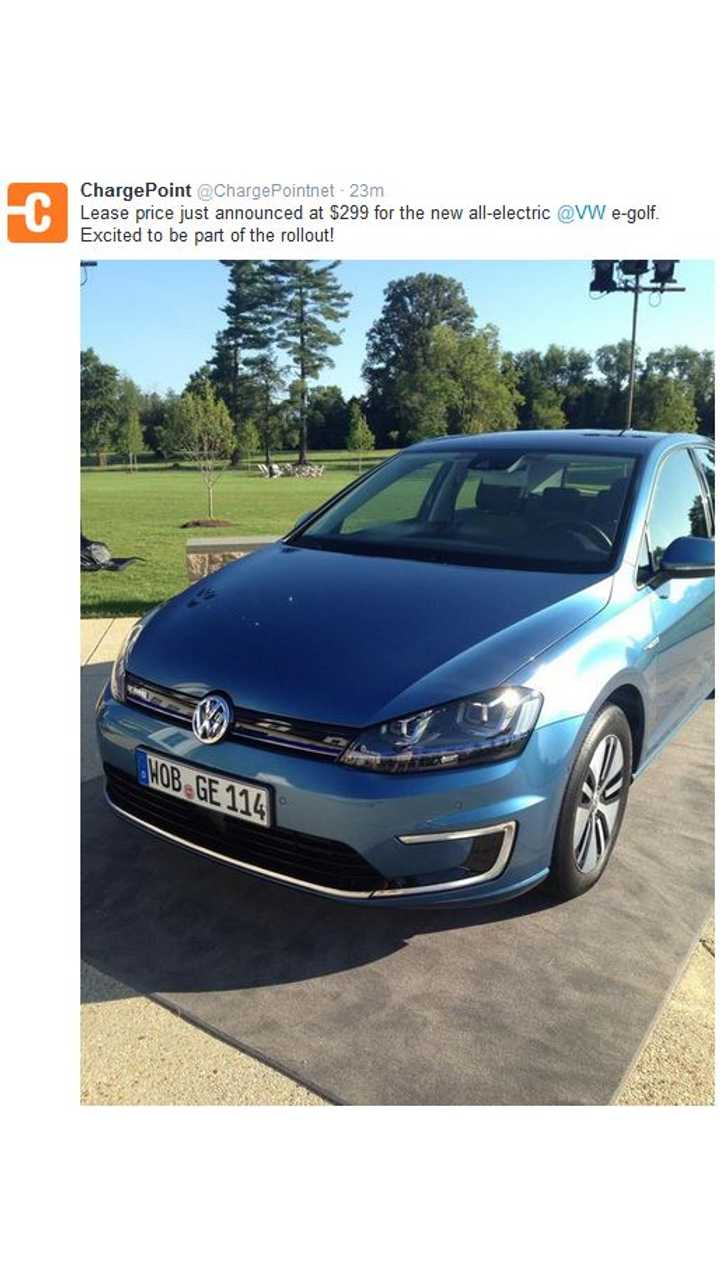 Exclusive: 2015 Volkswagen e-Golf Lease Deal - $299 Per Month, 36 Months, $2,000 Due At Signing
