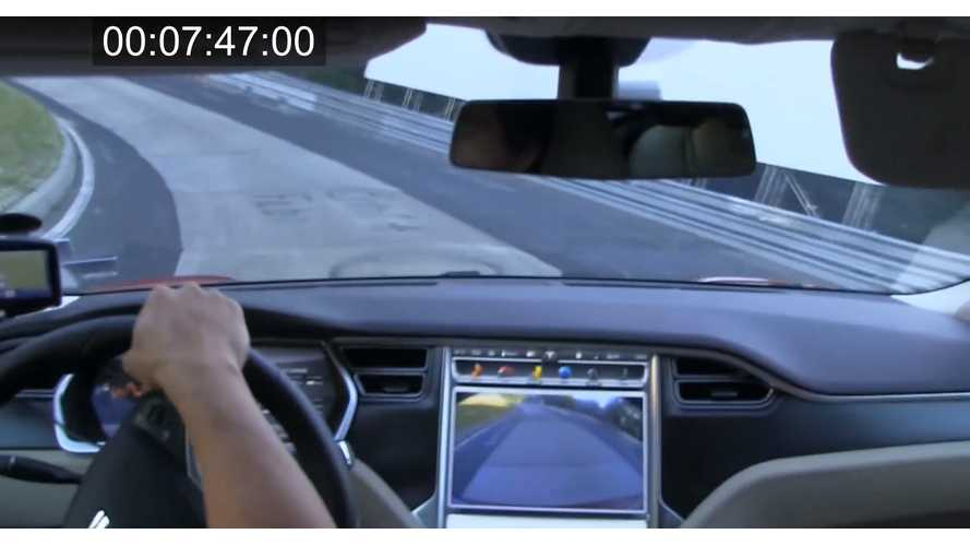 Tesla Model S P85 On Nurburgring - Video