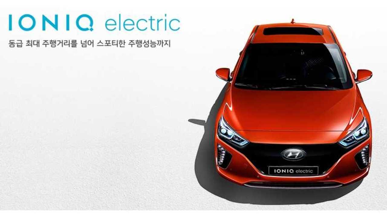 Hyundai IONIQ Electric Has A 28 kWh Battery, 105 Miles Real Range