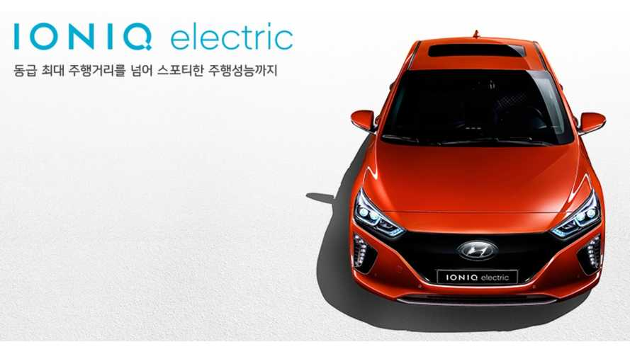 Hyundai IONIQ Electric Has A 28 kWh Battery, 105 Miles Real Range
