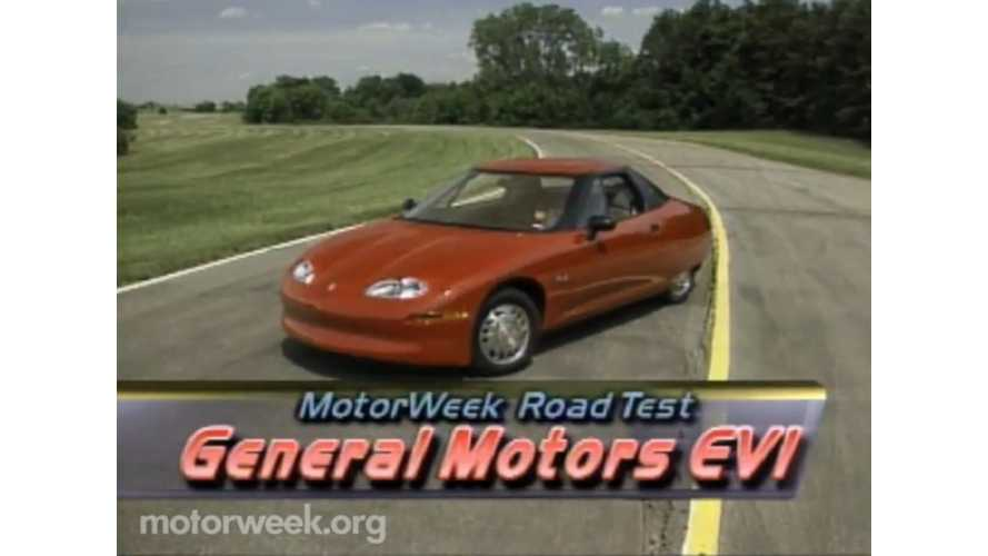 As Plug-In Industry Races Forward In LA, MotorWeek Looks Back At The EV1 - video review