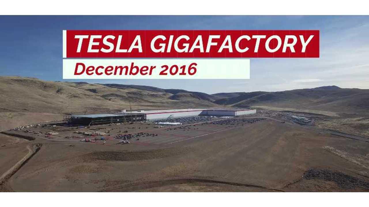 Tesla Gigafactory December 2016 Construction Update 4K