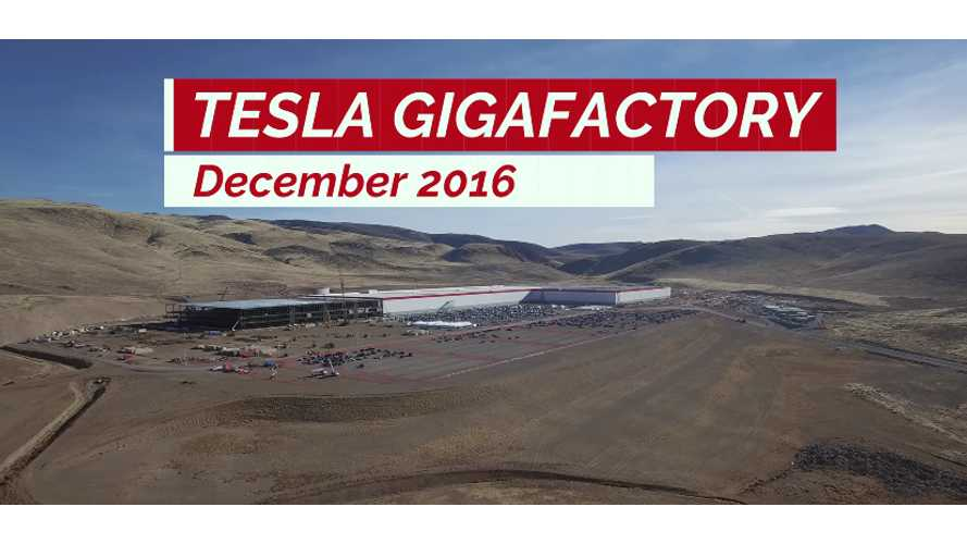 Tesla Gigafactory Update and Drone Footage For December - video