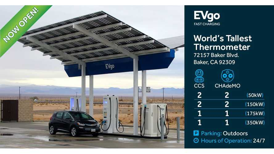 EVgo Launches 350 kW Ultra-Fast Charging Station Between LA & Vegas