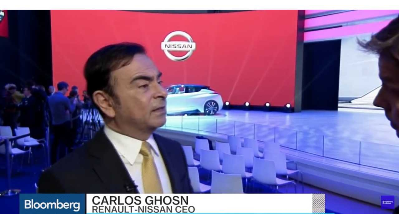 Carlos Ghosn: Electric Vehicles - The Perfect Solution Against Emission Problems (via Bloomberg)