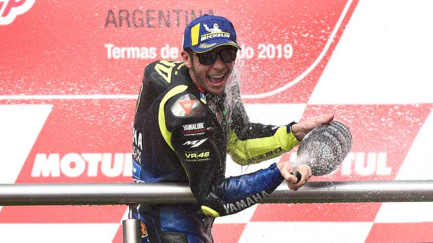 Valentino Rossi a podio ad oltre 40 anni, non succedeva dal 1977